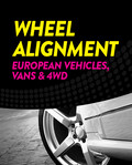 Wheel Alignment - European Vehicles, Vans, 4WD, SUV