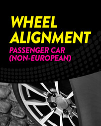 Wheel Alignment - Passenger Car (non-european)