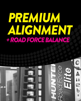 Premium Wheel Alignment + Road Force Balance